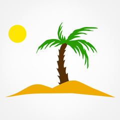 oasis symbol vector illustration. palm travel icon.
