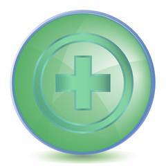 Icon Plus color of malachite