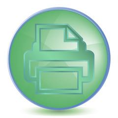 Icon Print color of malachite