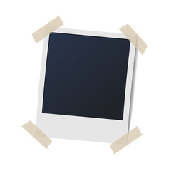 photo frame on plaid background