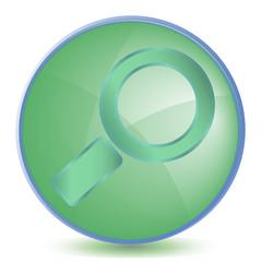 Icon Search color of malachite