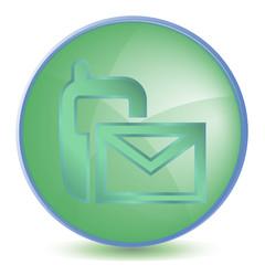Icon SMS color of malachite