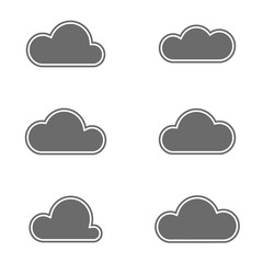 Set of simple vector icons - a clouds