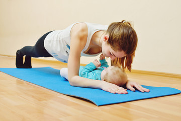 exercises  with  baby