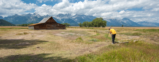 Photographer at Grand Teton National Park, Wyoming