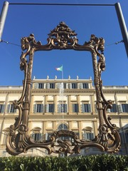 Palazzo reale Monza Lombardia Italia, cornice quadro