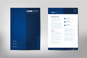 Modern Cover Annual Report Brochure - business brochure - Catalog Cover, flyer design, size A4, front page and back page. Easy to use and edit. Vector Layout template .