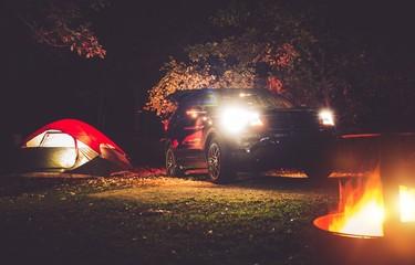 Fototapete - Camping Adventure