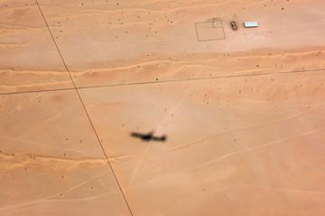 desert arabic settlement aerial view landscape