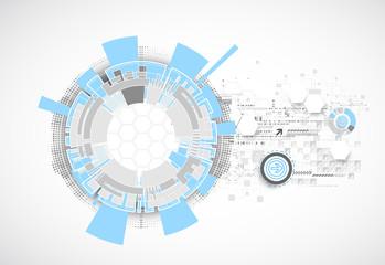 Technology futuristic digital background.