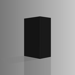 Black tall box. Ready for your design. Vector illustration, esp
