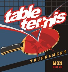 table tennis sport text logo poster vector