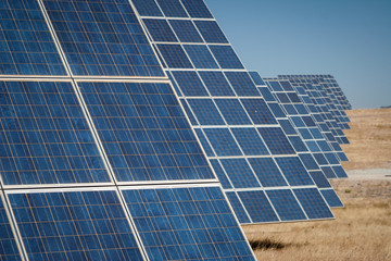 Sun Energy Farm - Stock Image