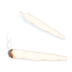 A vector isometric illustration of a joint.