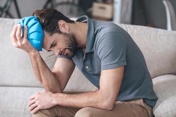 Feeling terrible headache.