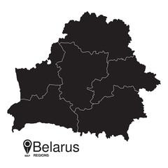 Belarus regions map