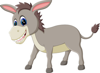 cartoon donkey smile and happy