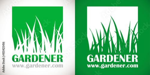 Logo paysagiste pelouse herbe vert fichier vectoriel for Prix pelouse paysagiste