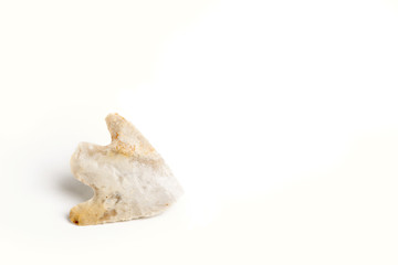 White Arrowhead on White Background