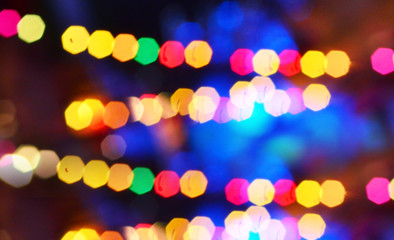 Abstract colorful and blurred bokeh for background