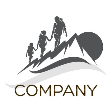 family and camping logo