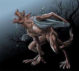 Werewolf reincarnation under the full moon.