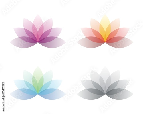Colorful lotus flower spa logo 2 stock image and royalty free colorful lotus flower spa logo 2 mightylinksfo