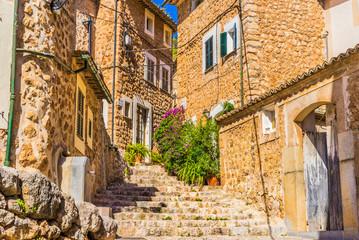 Berg Dorf Spanien Urlaub Mallorca Fornalutx