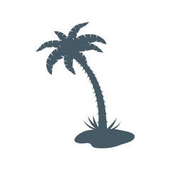Stylized icon of palm tree