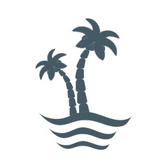 Stylized icon of  palm trees