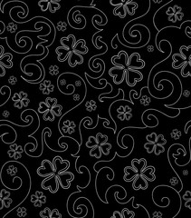 Beautiful vector seamless pattern with clover for St. Patrick's day. You can use any color of background