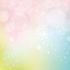 Smooth Pastel Background With Bokeh
