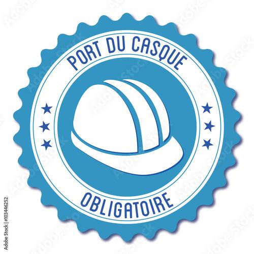 Logo port du casque obligatoire stock image and royalty free vector files on - Port du casque obligatoire ...