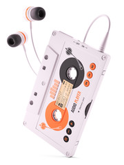 Mp3 portable musical casette player. Concept 3d