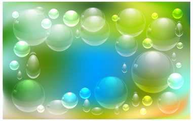 drops of water on a colorful background