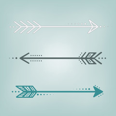 cute retro arrows