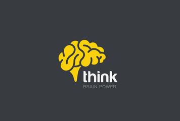 Brain Logo silhouette vector Brainstorm think