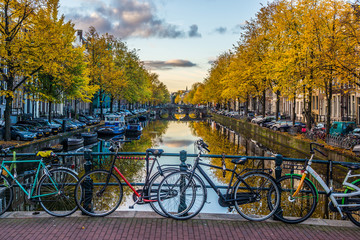 Spoed Fotobehang Amsterdam Amsterdam im Herbst