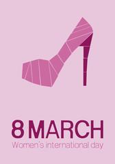 8 March. Women's international day. Heel illustration