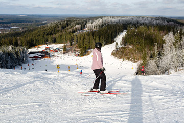 Skier at Isaberg ski resort