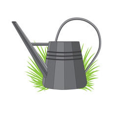 Vector illustration of a metal watering can