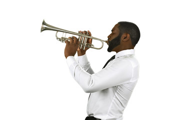 Talented trumpet performer. Wall mural