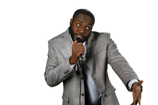 Black stand-up comedian.