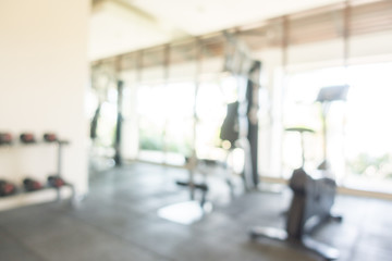 Abstact blur fitness room