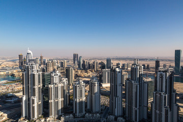 Aerial view of Dubai