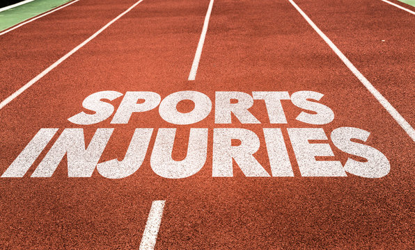 Sports Injuries written on running track