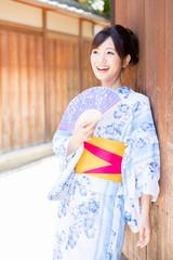 portrait of japanese woman wearing kimono