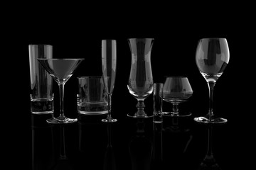 Set of Elegant Glasses