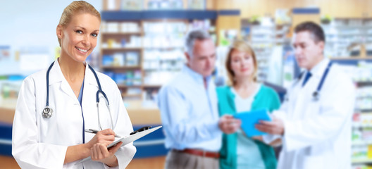Pharmacist Doctor woman.