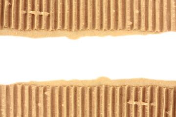 old torn textured cardboard sheet